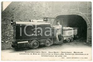 1905 EXPO LIEGE Gasmotorenfabrik DEUTZ - Locomotive de mine - Postcard