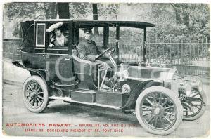 1910 BRUXELLES (BELGIQUE) AUTOMOBILES NAGANT - Carte postale ANIMEE