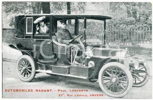 1910 ca ANVERS - AUTOMOBILES NAGANT - Carte postale ANIMEE