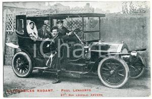 1910 ca ANVERS AUTOMOBILES NAGANT - Paul LENAERTS - Carte postale ANIMEE