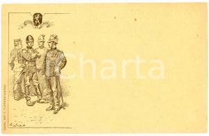 1900 ca GAND (BELGIQUE) Militaires - Devise