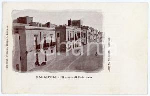 1900 ca GALLIPOLI (LE) Riviera di Scirocco - Cartolina postale ANIMATA