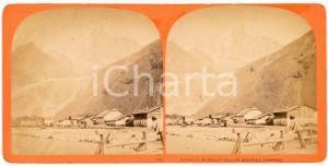 1910 ca CHAMONIX-MONT-BLANC- Aiguille du Dru et Village des Praz *Stereoview