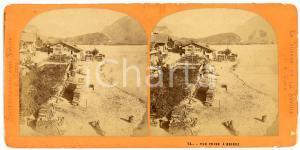 1910 ca BRIENZ (SUISSE) Une vue - Stereoview LAMY Suisse et Savoie