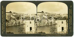 1907 PORTUGAL Oporto and the River Douro from the South - Stereoview WHITE 11464