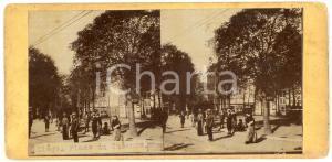 1910 ca LIEGE (BELGIQUE) Place du Théâtre - Old ANIMATED Stereoview