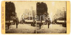 1910 ca LIEGE (BELGIQUE) Rue du Pont d'Avroy - DAMAGED ANIMATED Stereoview