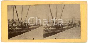 1910 ca LIEGE (BELGIQUE) Bateau sur les quais - ANIMATED Stereoview