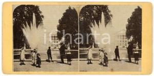 1910 ca LIEGE (BELGIQUE) Jardins - ANIMATED Stereoview children