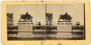 1910 ca LIEGE (BELGIQUE) Le Taureau de Mignon - ANIMATED Stereoview
