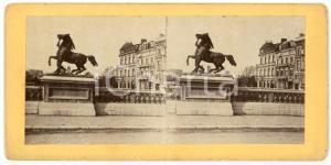 1910 ca LIEGE (BELGIQUE) Le Dompteur - Statue - Old stereoview