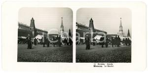 1905 MOSCOW (RUSSIA) Le Marché - Stereoview STEGLITZ ANIMATED