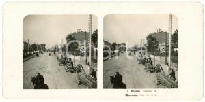 1905 MOSCOW (RUSSIA) Rue Sadowaja - Stereoview STEGLITZ ANIMATED