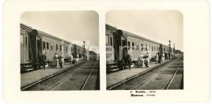 1905 MOSCOW (RUSSIA) Orscha - Stereoview STEGLITZ ANIMATED train
