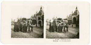 1905 MOSCOW (RUSSIA) Rue Kitajski projesd. - Stereoview STEGLITZ ANIMATED