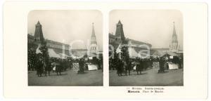 1905 MOSCOW (RUSSIA) Place du Marché - Stereoview STEGLITZ ANIMATED