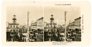 1910 ca VARSAW Rue des Maréchaux - DAMAGED Stereoview ANIMATED