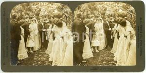 1902 USA A wedding - Congratulations - Stereoview H. C. WHITE n° 5516 (7)