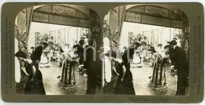 1902 USA The Ballroom - Salute partners - Stereoview H. C. WHITE