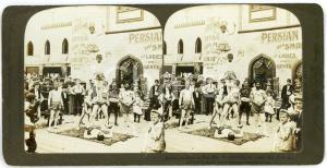1904 ST. LOUIS (USA) Indian Acrobats on the Pike - RARE Stereoview AMERICAN