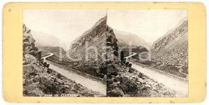 1905 ca SNOWDONIA / WALES Pass of Llanberis - Old Stereoview