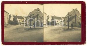 1905 ca ENGLAND View of a village - ANIMATED Old Stereoview