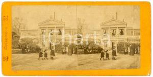 1910 ca BRUXELLES (?) Jardins - Enfants - Vintage Stereoview FRITZ
