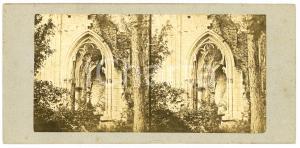 1910 ca BELGIQUE Cahédrale en ruine - Arc  - Vintage Stereoview