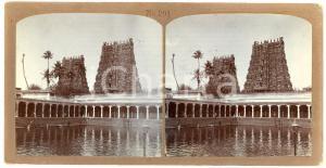 1900 ca MADURAI (INDIA) The Meenakshi Temple - Antique Stereoview 201