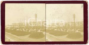 1900 ca OSTENDE (BELGIQUE) Le port - Bateaux - Vintage Stereoview