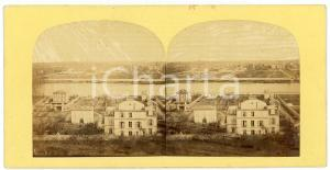 1900 ca BELGIUM (?) View with a river - Antique Stereoview