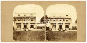 1900 ca s.l. Villa with a garden - ANIMATED Antique Stereoview