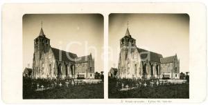 1906 BLANKENBERGHE (BELGIUM) Eglise St. Antoine *Stereoview STEGLITZ-BERLIN