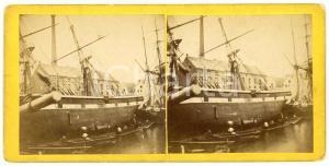 1905 ca OSTENDE (BELGIQUE) Le port - Bateaux - Vintage Stereoview DELOEUL