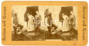 1905 ca USA COMICS AND GROUPS Rejected Swell - Vintage Stereoview n° 2