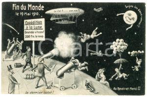 1910 SURREALISME Fin du Monde - Expédition à la lune - Comète Halley - Postcard