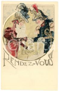 1900 ca FRANCE Artist Georges CONRAD - Rendez-vous - ILLUSTRATED postcard