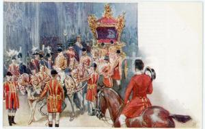 1902 UK CORONATION King Edward VII - Procession - Postcard TUCK & Sons