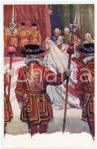 1902 UK CORONATION King Edward VII and Queen Alexandra - Postcard TUCK & Sons