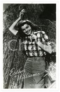 1950 ca CINEMA Esther WILLIAMS Postcard METRO GOLDWYN MAYER - FP NV