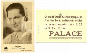 1931 LIEGES Cinema Palace - Denis KING dans LE VAGABOND ROI Carte postale FP