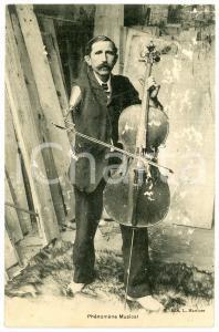 1907 CIRCUS FREAKS FRANCE Phénomène musical - DAMAGED old postcard