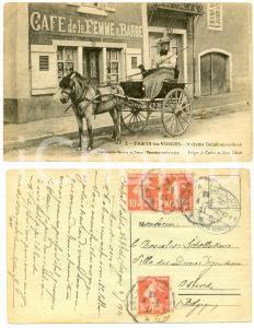 1921 THAON-LES-VOSGES Madame DELAIT en voiture - Femme à barbe - Carte postale