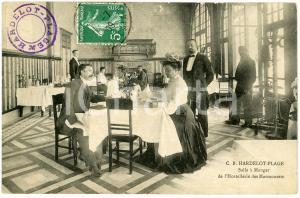 1909 HARDELOT-PLAGE Salle à Manger Hostellerie des Marmouses - Carte postale CPA