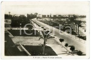 1935 AOI - TRIPOLI Parco Principe Umberto - Cartolina FP VG