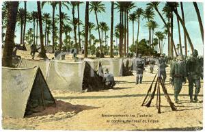 1912 TRIPOLI Accampamento tra i palmizi al confine dell'oasi - Cartolina FP VG