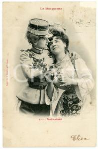 1903 COUPLE DE FEMME - LA MARGUERITE n.4 - Passionnément - Carte postale FP VG