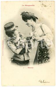 1903 COUPLE DE FEMME - LA MARGUERITE n.3 - Beaucoup - Carte postale FP VG