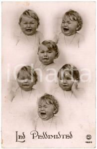 1910 ca HUMOUR Les Pessimistes - Bébé qui pleure - Postcard DAMAGED FP VG