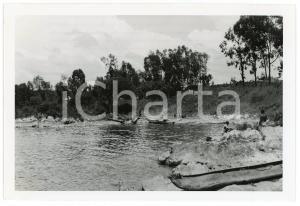 1945 RUANDA - KISENYI - Une anse du lac KIVU - Photo A. VAN DEN HEUVEL 12x18 cm